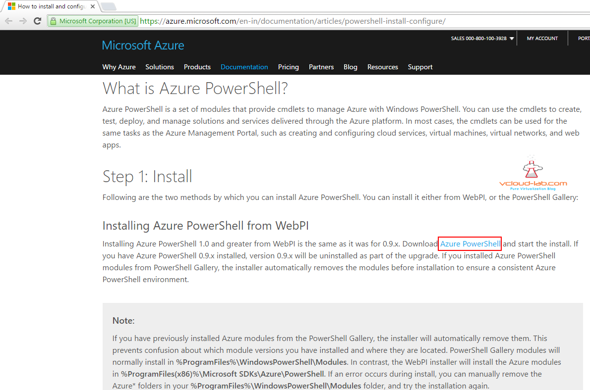 Download and install azure powershell