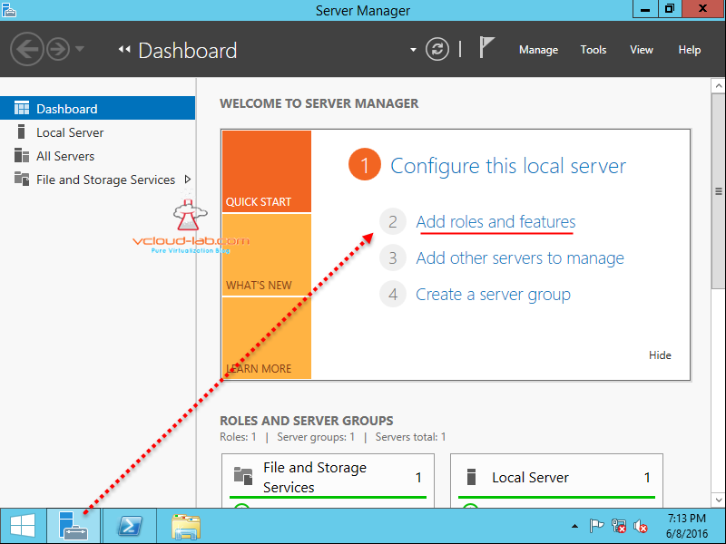 windows 2012 server manager add roles and features