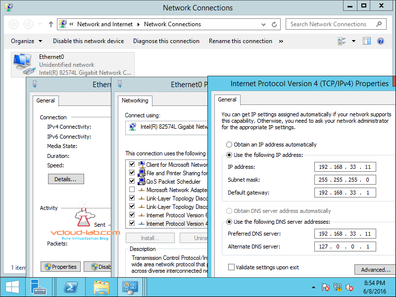 configure Ip address on active directory