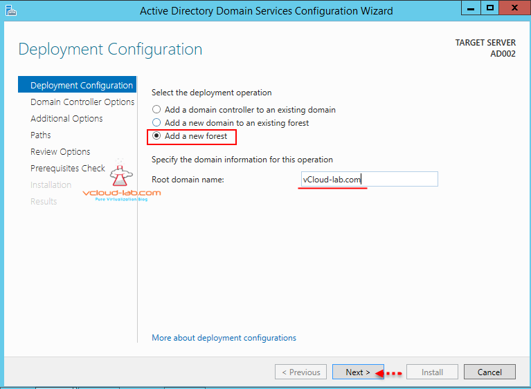 Active directory add new forest root domain in vmware workstation