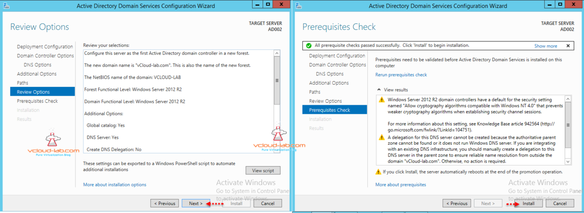 Active directory Script and prerequisite checks