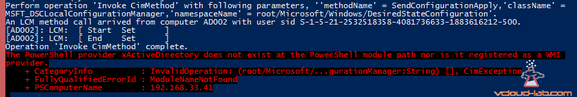xActiveDirectory Powershell Dsc missing