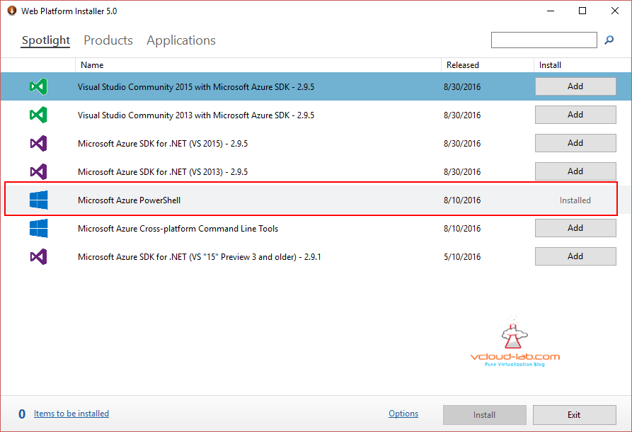 microsoft azure powershell installed successful