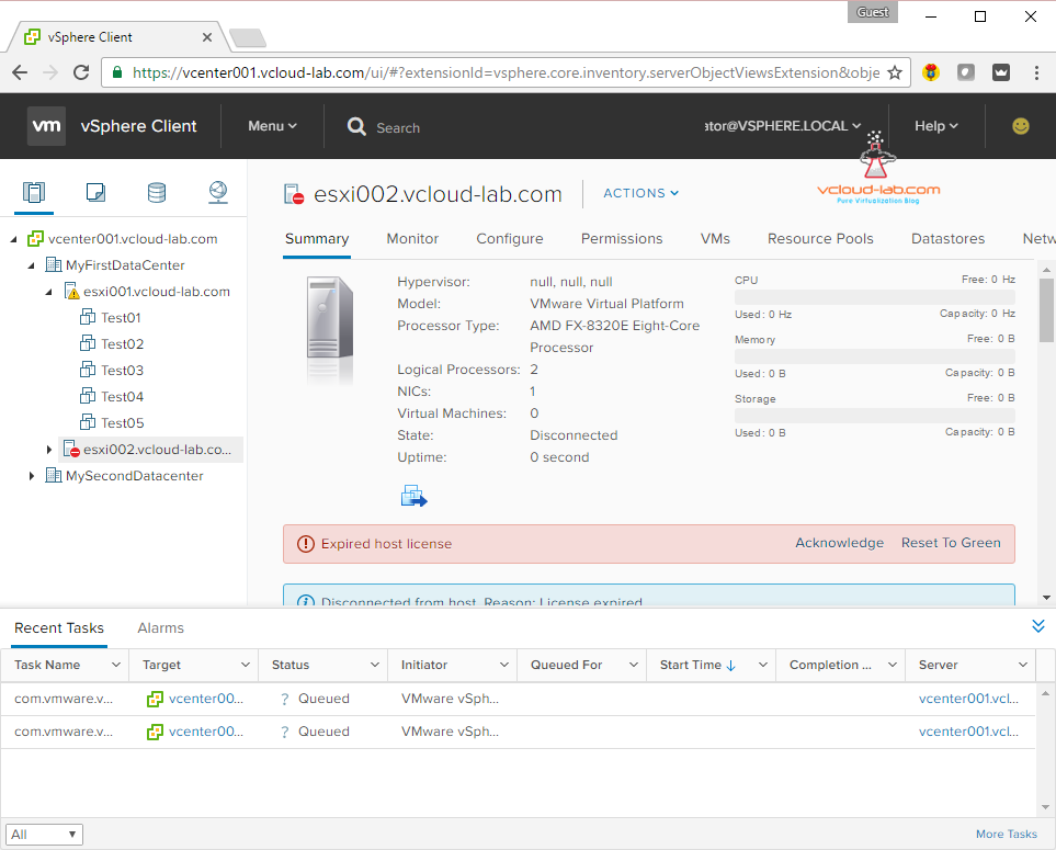 Cool vmware vcenter vsphere client HTML5, no single sign-on