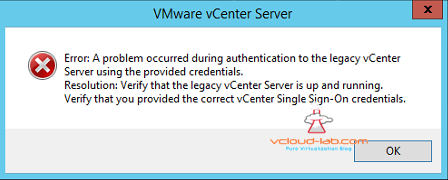 vmware vsphere vcenter 6.5 installation upgrade error vcenter service not running