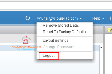 vmware vsphere vcenter server web client flash, html5 how to logout