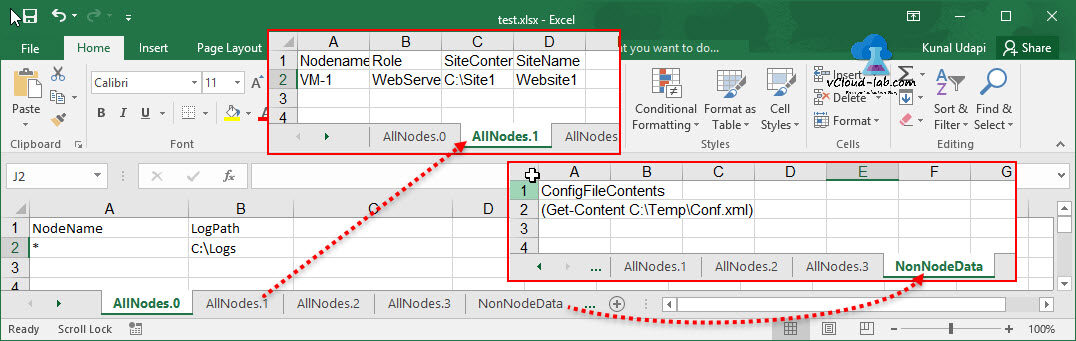 Powershell Convert Microsoft Excel to Dsc desired State Configuration Excel file format with tabs