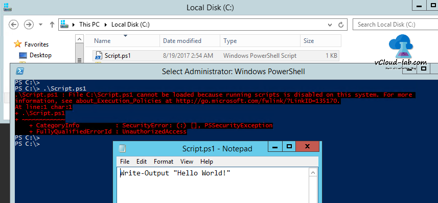Microsoft Powershell Script execution get-Executionpolicy unrestricted script cannot be loaded because running scripts is disabled on this system, For more information, see about_Execution_Policies
