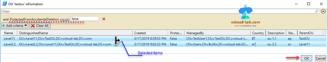powershell activedirectory Ou orgnization unit report distinguishedname, created, managedby, get-adorgnizationunit, get-adgroup, import-module, .net adsi, domain controller, ad.png