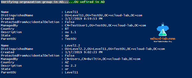 Powershell active directory orgnanization unit, distinguishedName, created, protetectedfromaccidentaldeletion, parentou, managedby, powershell reports, out-gridview, filter passthrough.png