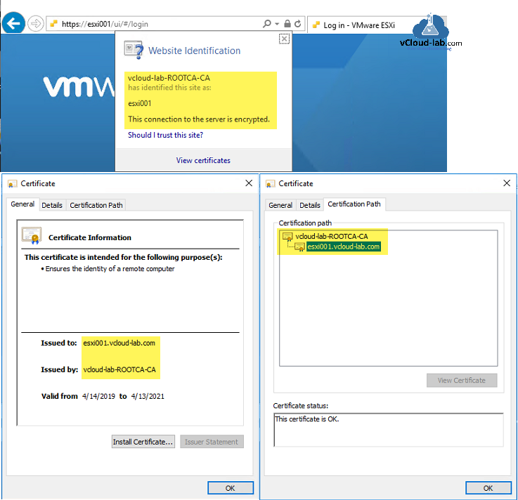 esxi server vmware vsphere rootca ca certificate autority, trusted rootca subordinate ca replace default rui.key and rui.crt on esxi server automated way replace.png