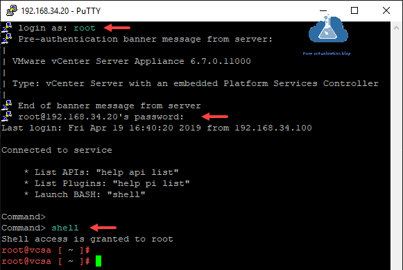 putty vcsa vmware vcenter server appliance embedded platform services controller bash shell api vmca psc login certificate authority root ca subordinate ca microsoft domain certificate services certsrv.png