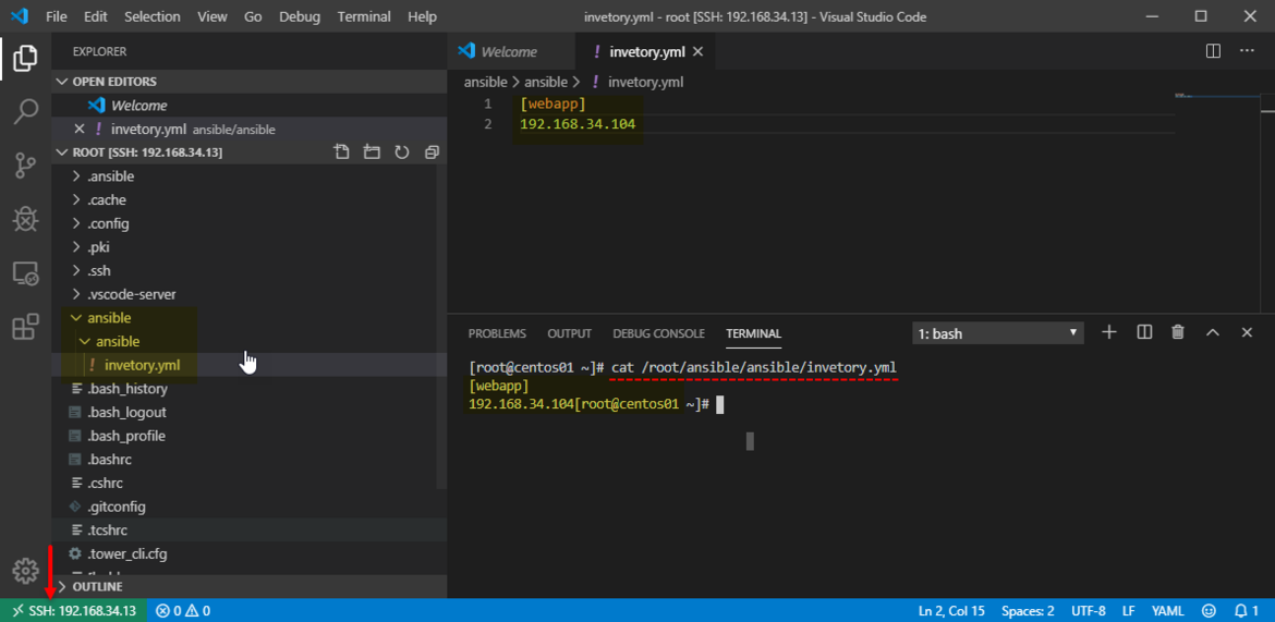 visual studio code vs code ssh connection remote - ssh extension from marketplace remotely edit linux file from vscode Visual Studio Code Remote Development over SSH passwordless ssh key keygen.png